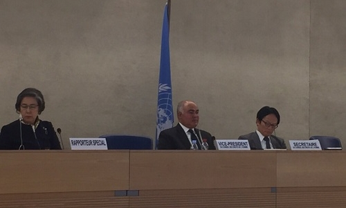 العراق يترأس الحوار التفاعلي مع المقرر الخاص المعني بحالة حقوق الانسان في ميانمار